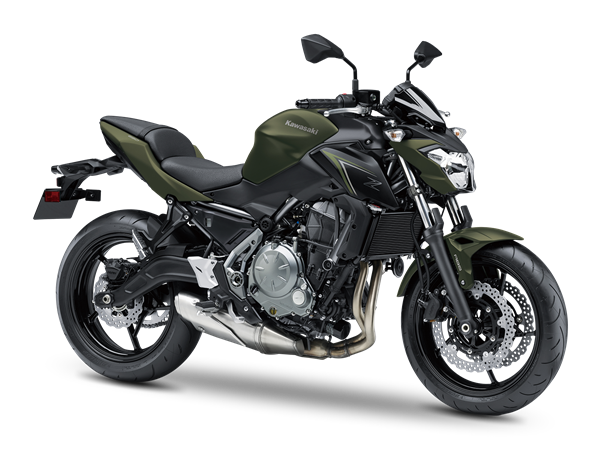 kawasaki z650 Metallic Matte Covert Green / Metallic Flat Spark Black