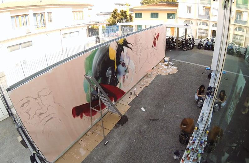 street-bikers-party-street-art